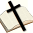 Open Bible with a Cross