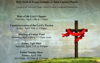 Holy Week Liturgies at Saint Clarence 2017