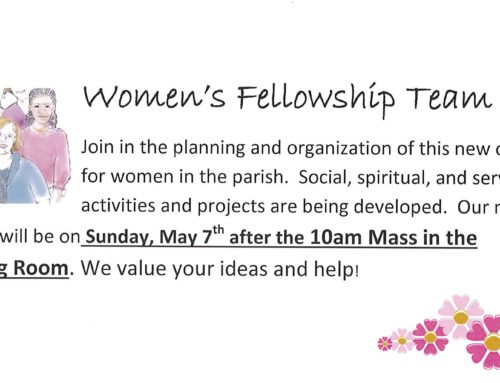 Women's Ministry – Next Breakfast Meeting Sunday, May 7th