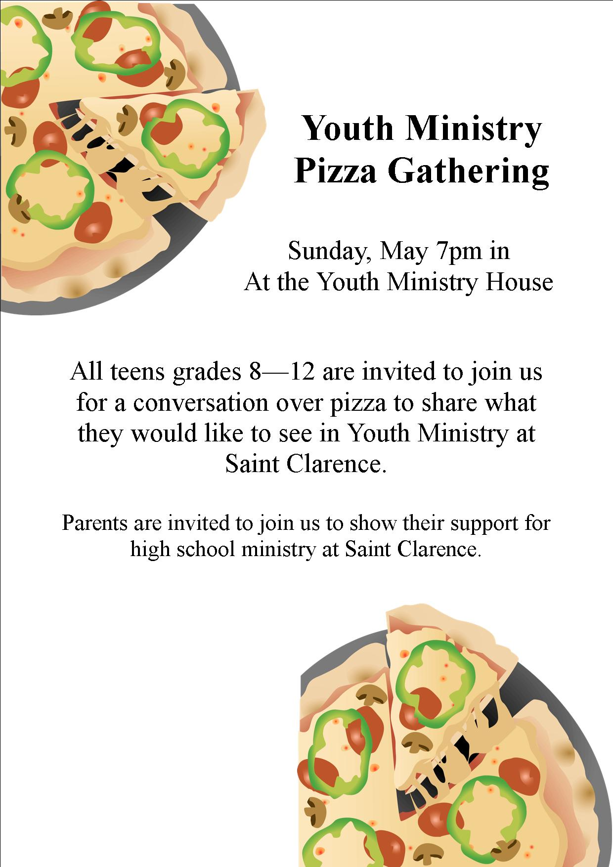 Youth Ministry Flyer 5.7.17