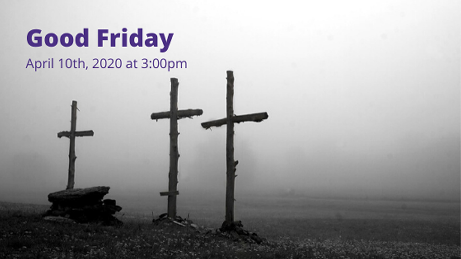 Good Friday - Live-streamed from the Catholic Diocese of Cleveland - Friday, April 10th at 3:00pm