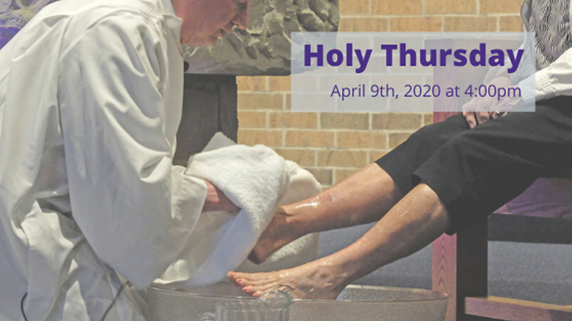 Holy Thursday - Live-streamed from the Catholic Diocese of Cleveland - Thursday, April 9th at 4:00pm
