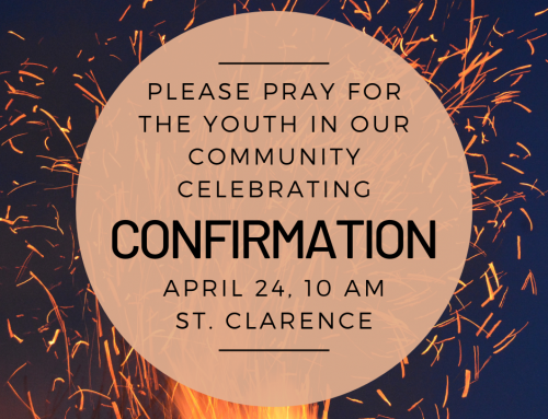 Blessings and Congratulations to St. Clarence Teens